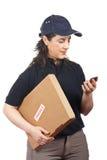Entregando um pacote frágil Foto de Stock Royalty Free