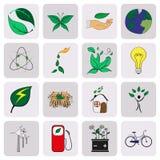 Entregue ícones do eco dos desenhos animados da tração ilustração royalty free