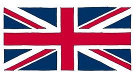 entregue a bandeira tirada do Reino Unido (Reino Unido) aka Union Jack ilustração do vetor