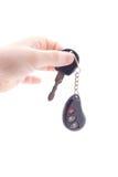 Entregue a chave do carro da terra arrendada fotos de stock royalty free