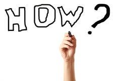 Entregue desenhar uma palavra como com marcador preto Imagem de Stock Royalty Free