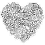 Entregue el marco floral modelado ornamental étnico artístico exhausto stock de ilustración
