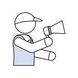 Entregue el pictograma del mensajero libre illustration