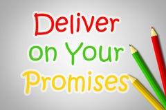 Entregue en su concepto de las promesas libre illustration