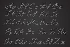Entregue escrito ou entregue letras tiradas, letras do roteiro Fotos de Stock