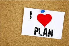 Entregue a exibição que da inspiração do subtítulo do texto da escrita eu amo o plano 2018 amores do plano de ação 2018 da estrat Imagem de Stock