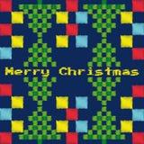 Entregue a Feliz Natal tirado o ano novo feliz fundo do cartão de 2018 invernos com desenhos animados bonitos Estilo escandinavo  Fotos de Stock Royalty Free