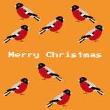 Entregue a Feliz Natal tirado o ano novo feliz fundo do cartão de 2018 invernos com desenhos animados bonitos Estilo escandinavo  Fotografia de Stock Royalty Free