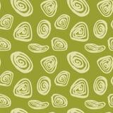 Entregue a formas simples tiradas o teste padrão sem emenda em cores verdes Fotos de Stock Royalty Free