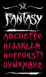 Entregue a ilustração do alfabeto & a caligrafia tiradas - vetor Foto de Stock Royalty Free