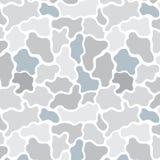 Entregue a ilustração tirada do vetor do teste padrão cinzento da camuflagem Papel de parede abstrato Imagem de Stock Royalty Free