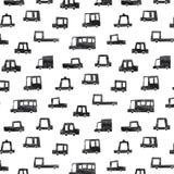Entregue a ilustração tirada do vetor do teste padrão preto do carro no fundo branco Papel de parede abstrato da garatuja Fotografia de Stock