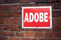 Entregue a inspiração do subtítulo do texto da escrita que mostra o nome de empresa de software do significado do conceito de ADO Imagem de Stock