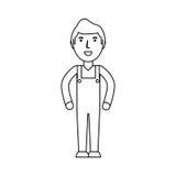 Entregue la historieta del mensajero libre illustration
