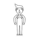 Entregue la historieta del mensajero ilustración del vector