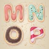 Entregue letras tiradas do alfabeto M a P Imagem de Stock Royalty Free