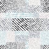 Entregue a linhas tiradas texturas o teste padrão sem emenda, vagabundos tirados mão do vetor Foto de Stock
