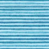 Entregue listras tiradas do grunge do vetor do teste padrão sem emenda das cores frias do azul no fundo claro ilustração stock