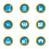 Entregue los iconos fijados, estilo plano de la carga útil libre illustration