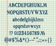 Entregue o alfabeto do desenho Fotografia de Stock Royalty Free