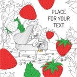 Entregue o cartão desenhado Imagem de Stock Royalty Free