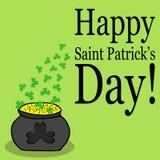 Entregue o cartão tirado do vetor do dia do ` s de St Patrick ilustração do vetor