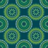 Entregue o fundo tirado com elementos decorativos em cores azuis e verdes ilustração royalty free