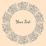 Entregue o quadro preto e branco decorativo tirado do texto ou da imagem com f Imagens de Stock Royalty Free