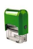 Entregue o selo automático retangular, uma cor verde brilhante Fotografia de Stock