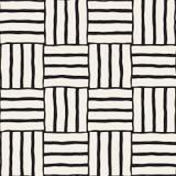 Entregue o teste padrão de repetição sem emenda tirado com linhas telhar Textura a mão livre suja do fundo ilustração do vetor