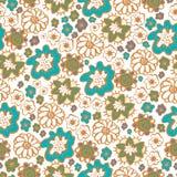 Entregue ornamento sem emenda florais tirados dos testes padrões no estilo do boho Imagens de Stock