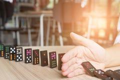 entregue a parada ruído contínuo, impeça o efeito de dominó risco, failu Imagens de Stock