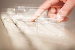 Entregue teclado tocante com elevação - botões da tecnologia Fotografia de Stock