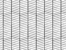Entregue a textura tirada do teste padrão que repete o monochrome sem emenda, preto e branco Fotografia de Stock Royalty Free