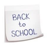 Entregue tirado de volta ao esboço da escola no papel de nota das varas Fotos de Stock