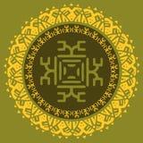 Entregue tirado em volta do quadro, elemento decorativo do projeto, circunde o ornamento tribal da beira Vetor Imagem de Stock Royalty Free