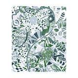 Entregue a tração floral abstrato pintado em cores na moda Imagem de Stock