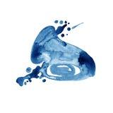 Entregue a tração o instrumento musical no estilo do esboço como a aquarela Azul do tubo ilustração stock