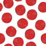 Entregue a tração o teste padrão sem emenda com os doces vermelhos do alcaçuz ilustração royalty free
