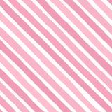Entregue a vetor tirado listras diagonais do grunge do teste padrão sem emenda das cores brilhantes do rosa no fundo branco Imagem de Stock Royalty Free