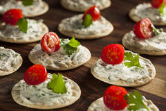 Entremeses de la galleta y del queso Foto de archivo libre de regalías