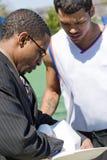 Entrenador de béisbol imágenes de archivo libres de regalías