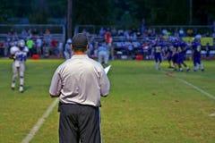 Entrenador de fútbol Imagen de archivo libre de regalías