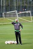 Entrenador de fútbol Lucien Favre en el vestido de Borussia Mönchengladbach Imagen de archivo libre de regalías