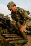 Entrenamiento aeromodelling del grupo de la artillería antiaérea imagenes de archivo