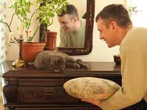 Entrenamiento con los animales domésticos Foto de archivo libre de regalías