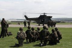 Entrenamiento de ejército británico Fotos de archivo libres de regalías