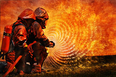 Entrenamiento de Firemans Imagenes de archivo