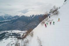 Entrenamiento de Freeride en Sochi Imágenes de archivo libres de regalías