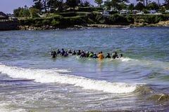 Entrenamiento de la aptitud en el mar Fotografía de archivo